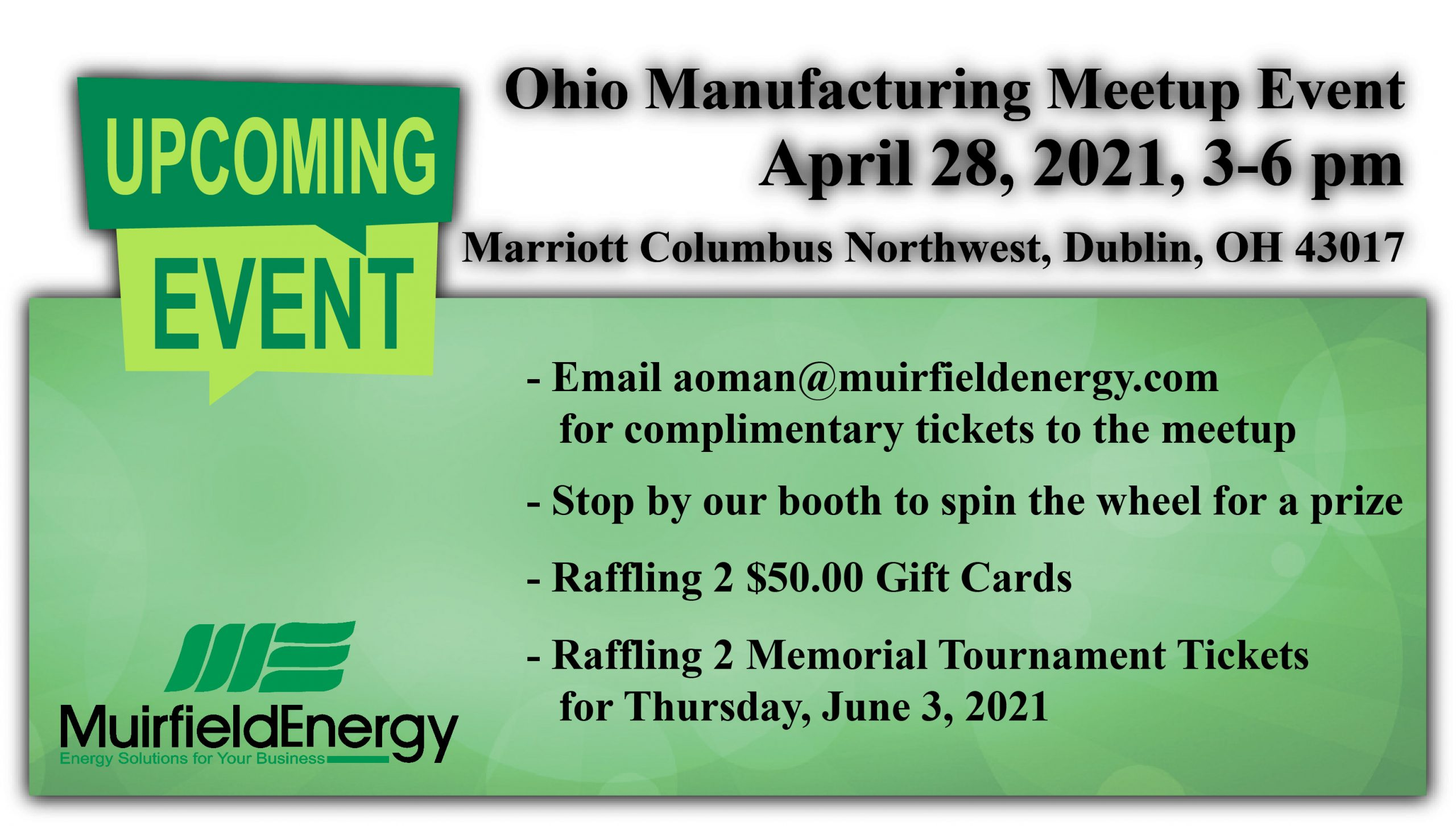 Ohio Manufacturers Meet Up Event April 28, 2021